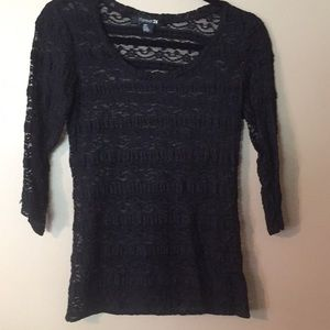 Forever 21 sheer lace nwot stretch long sleeve top
